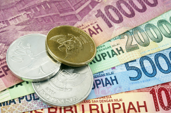 Indonesische Rupiah Währung IDR Noten und Münzen