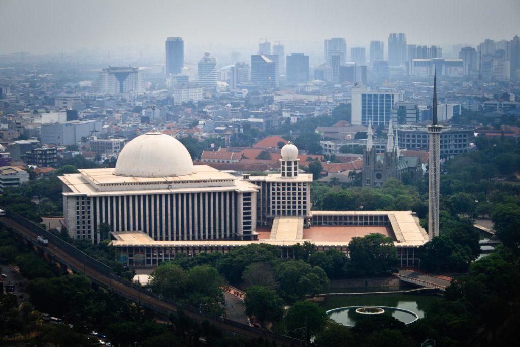 Unabhängigkeitsmoschee Istiqlal Moschee in Jakarta Indonesien