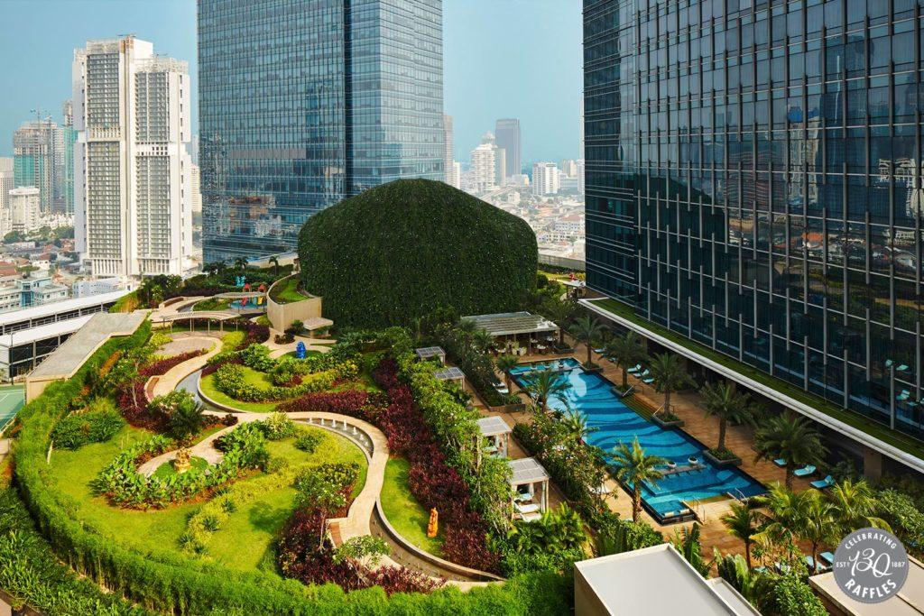 Ausenansicht Raffles Hotel Jakarta