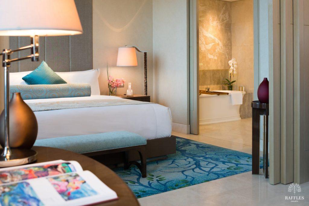 Blick in eines der Zimmer im Raffles Hotel Jakarta